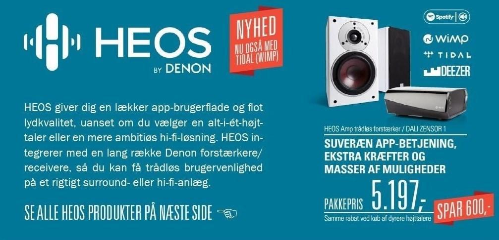 HEOS Amp trådløs forstærker / DALI Zenzor 1
