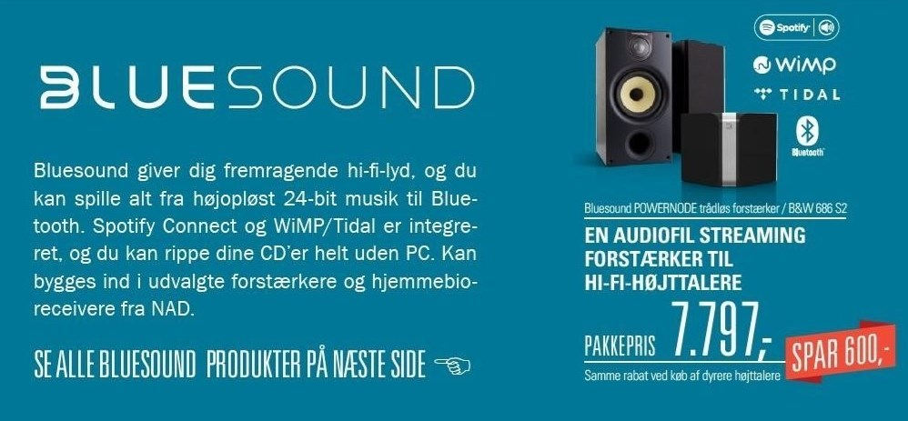 Bluesound POWERNODE trådløs stereoforstærker