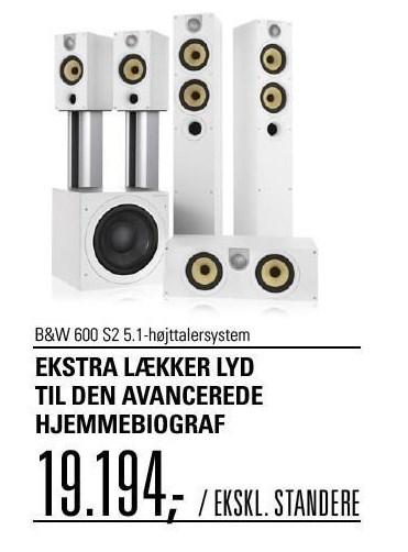 B&W 600 S2 5.1-højttalersystem