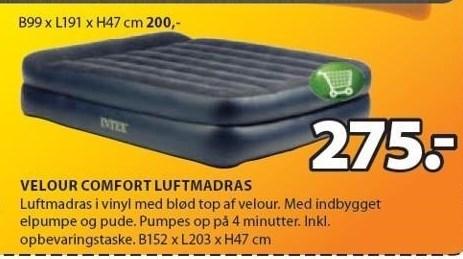 Velour comfort lufmadras