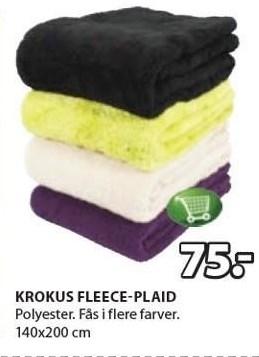 Krokus fleece-plaid