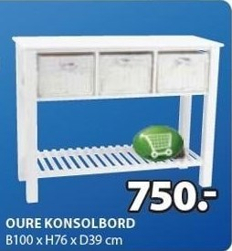 Oure konsolbord