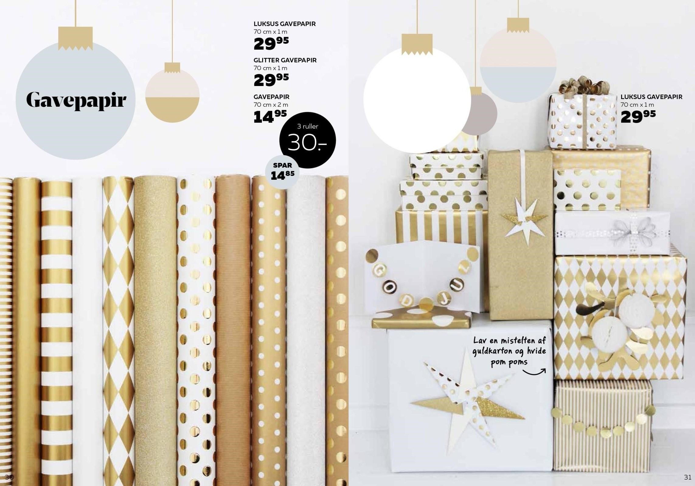 Luksus eller glitter gavepapir
