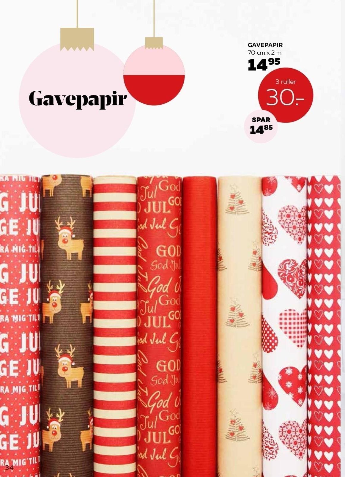 Gavepapir 3 ruller
