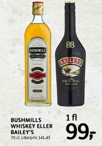 Bushmills whiskey eller Bailey's
