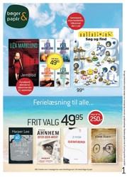 Bøger & papir: Gyldig t.o.m lør 4/7