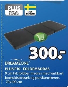 Plus F10 - Foldemadras
