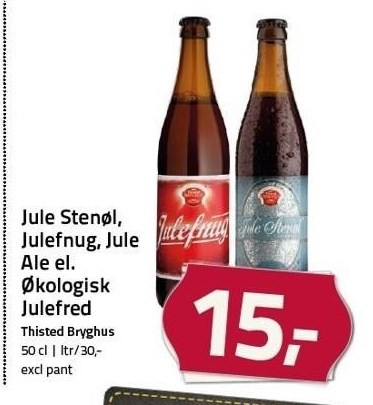 Jule Stenøl, Julefnug, Jule Ale el. Økologisk Julefred