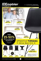 IDEmøbler: Gyldig t.o.m søn 28/2
