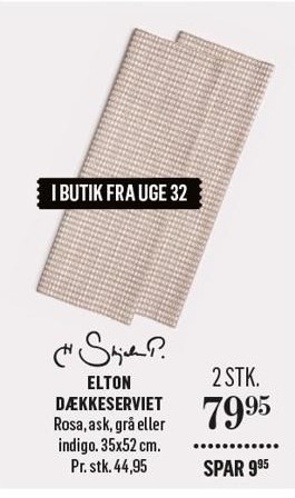 2 stk. Elton Dækkeserviet