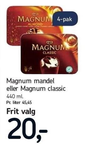 Magnum mandel eller Magnum classic