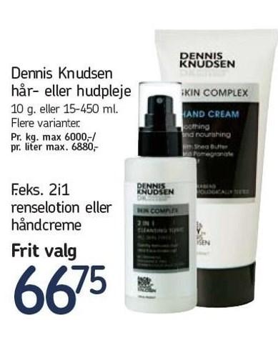 Dennis Knudsen 2i1 renselotion eller håndcreme