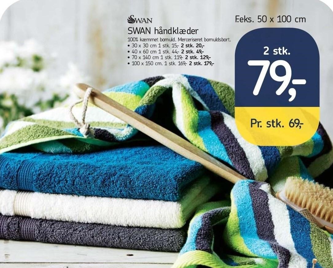 Swan håndklæder 2 stk.