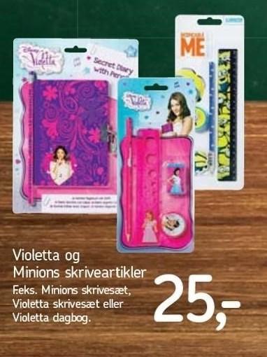 Violetta og Minions skriveartikler
