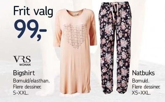 Bigshirt eller natbuks