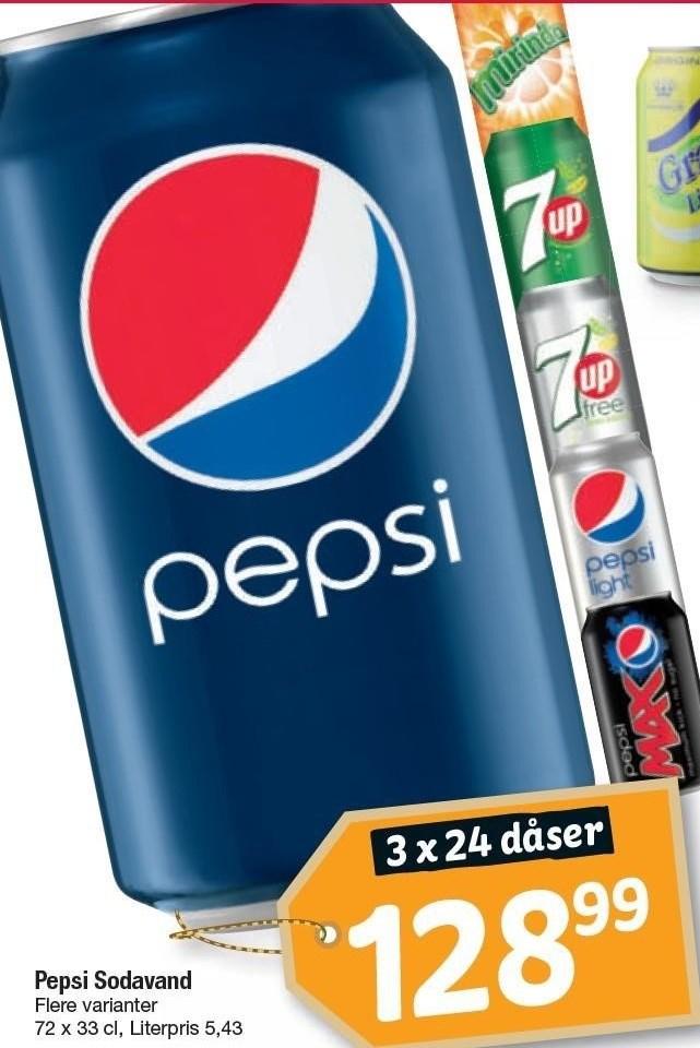 3x24 ds. Pepsi Sodavand