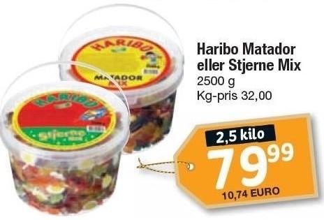 Haribo Matador eller Stjerne Mix