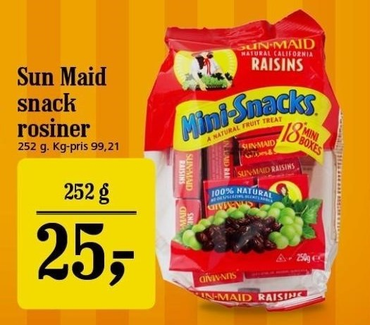 Sun-Maid snack rosiner