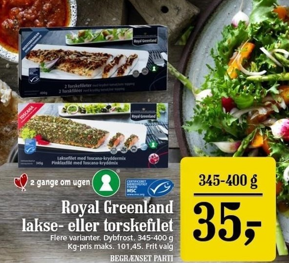 Royal Greenland lakse- eller torskefilet