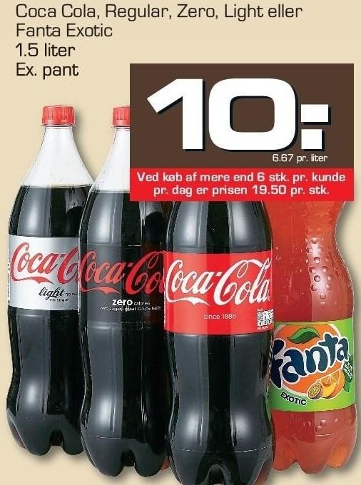 Coca Cola, Regular, Zero, Light eller Fanta Exotic