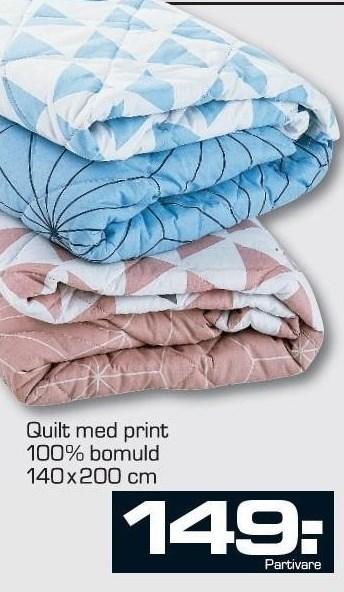 Quilt med Print
