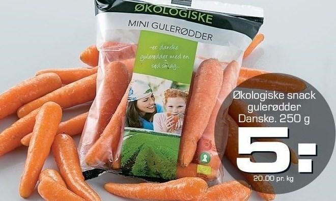 Økologiske Snack Gulerødder