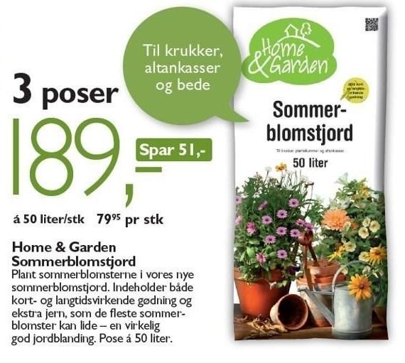 Home & Garden Sommerblomstjord 3 poser