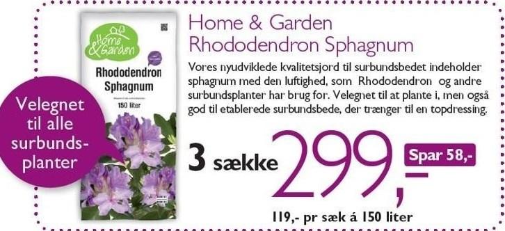 Home & Garden Rhododendron Sphagnum 3 sække
