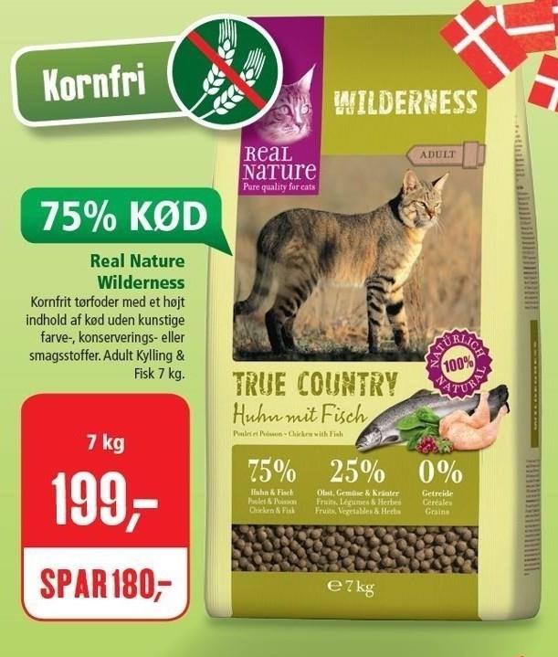 Real Nature Wilderness kattefoder 7 kg.