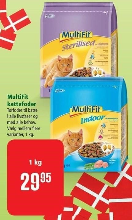 MultiFit kattefoder 1 kg.