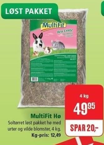MultiFit hø 4 kg