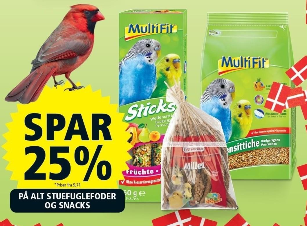 Stuefuglefoder og snacks