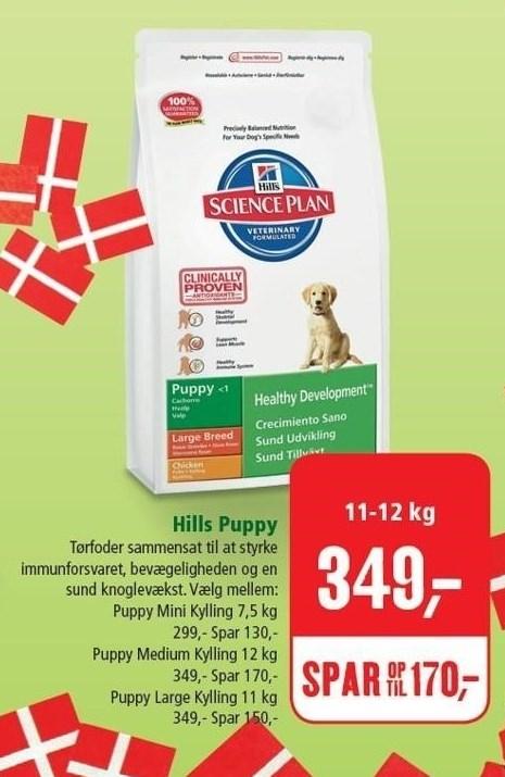 Hills Puppy tøfoder 11-12 kg.