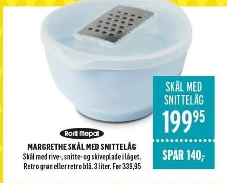 Margrethe Skål med Snittelåg