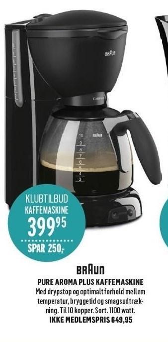 Pure Aroma Plus Kaffemaskine
