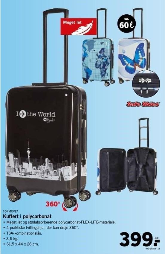 Kuffert i polycarbonat