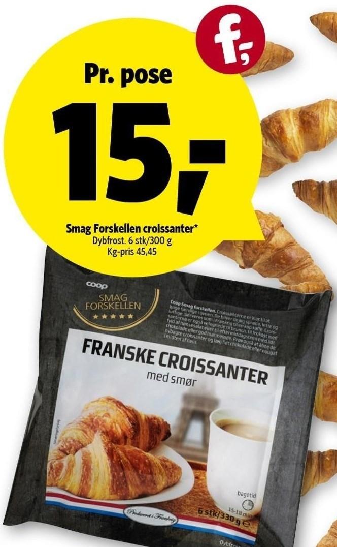 Smag Forskellen croissanter