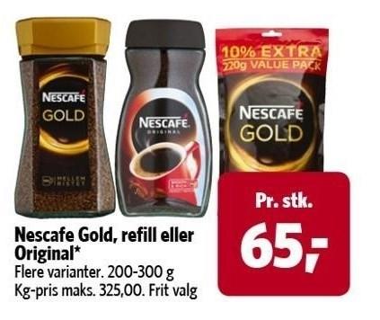 Nescafe Gold, refill eller Original