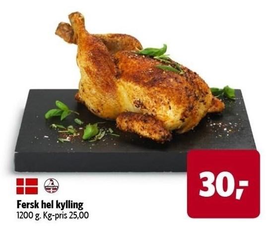 Fersk hel kylling