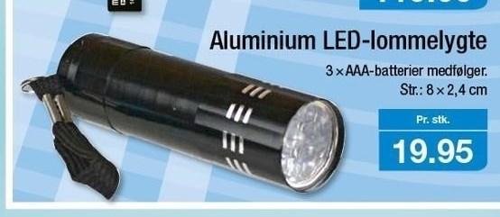 Aluminium LED-lommelygte