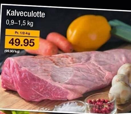 Kalveculotte pr. ½ kg