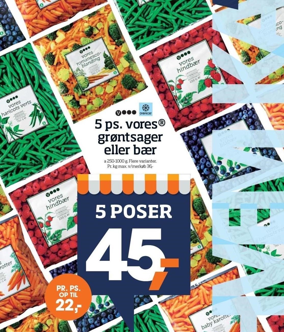 5 ps. vores grøntsager