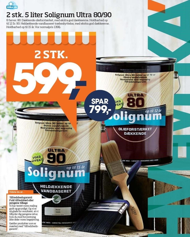 2 stk. 5 liter Solignum Ultra 80/90