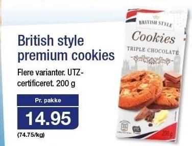 British style premium cookies
