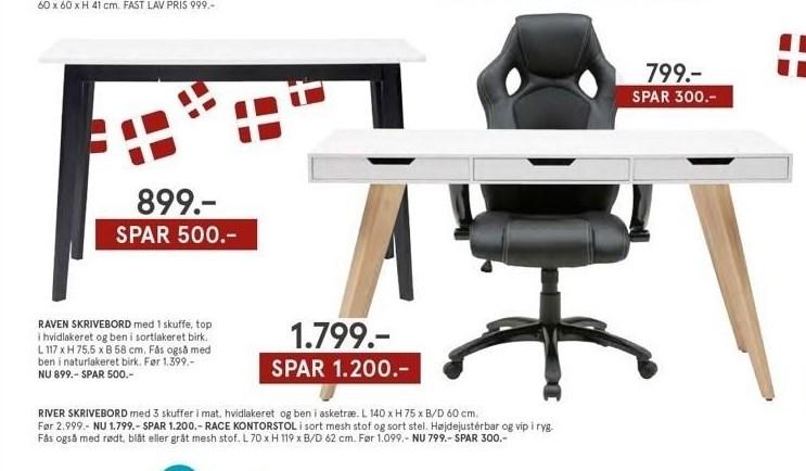 Raven skrivebord