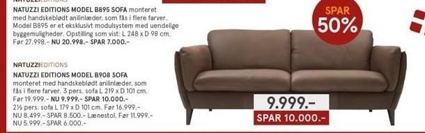 Natuzzi Editions model B908 sofa