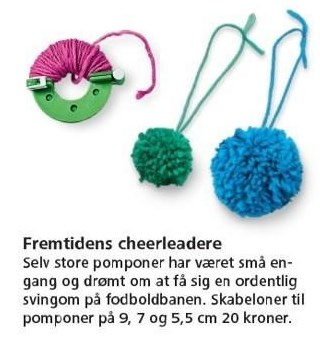 Skabeloner til pomponer