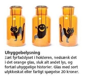 Glas med sort ulykkeskat eller farligt spøgelse