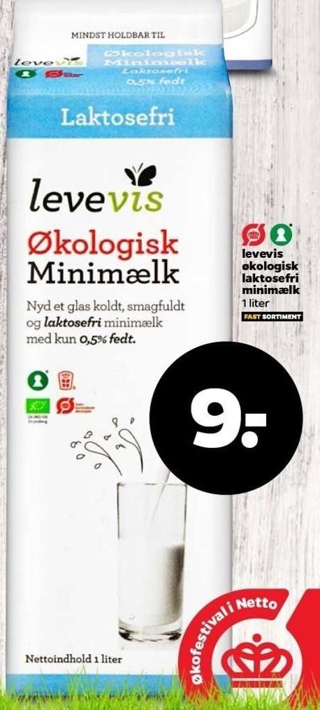 Levevis økologisk laktosefri minimælk