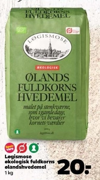 Løgismose økologisk fuldkorns ølandshvedemel